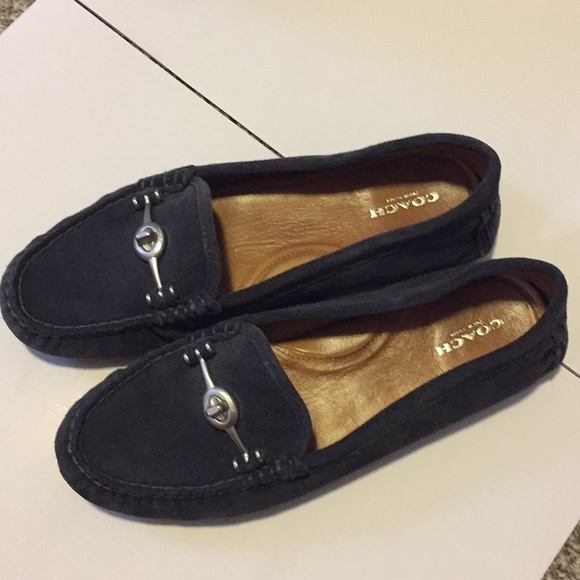 dbf41bc43586e ... france coach driving shoes loafers flats suede 9 335f3 266da